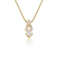 Zigzag Diamond Pendant in Rose Gold
