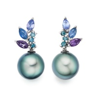 Enchanted Lagoon Earrings in White Gold