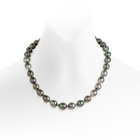Peacock Baroque Tahitian Pearl Necklace with 18ct White Gold