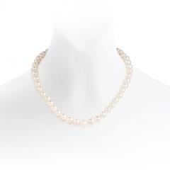 The Classic White Freshwater Single Strand Pearl Necklace