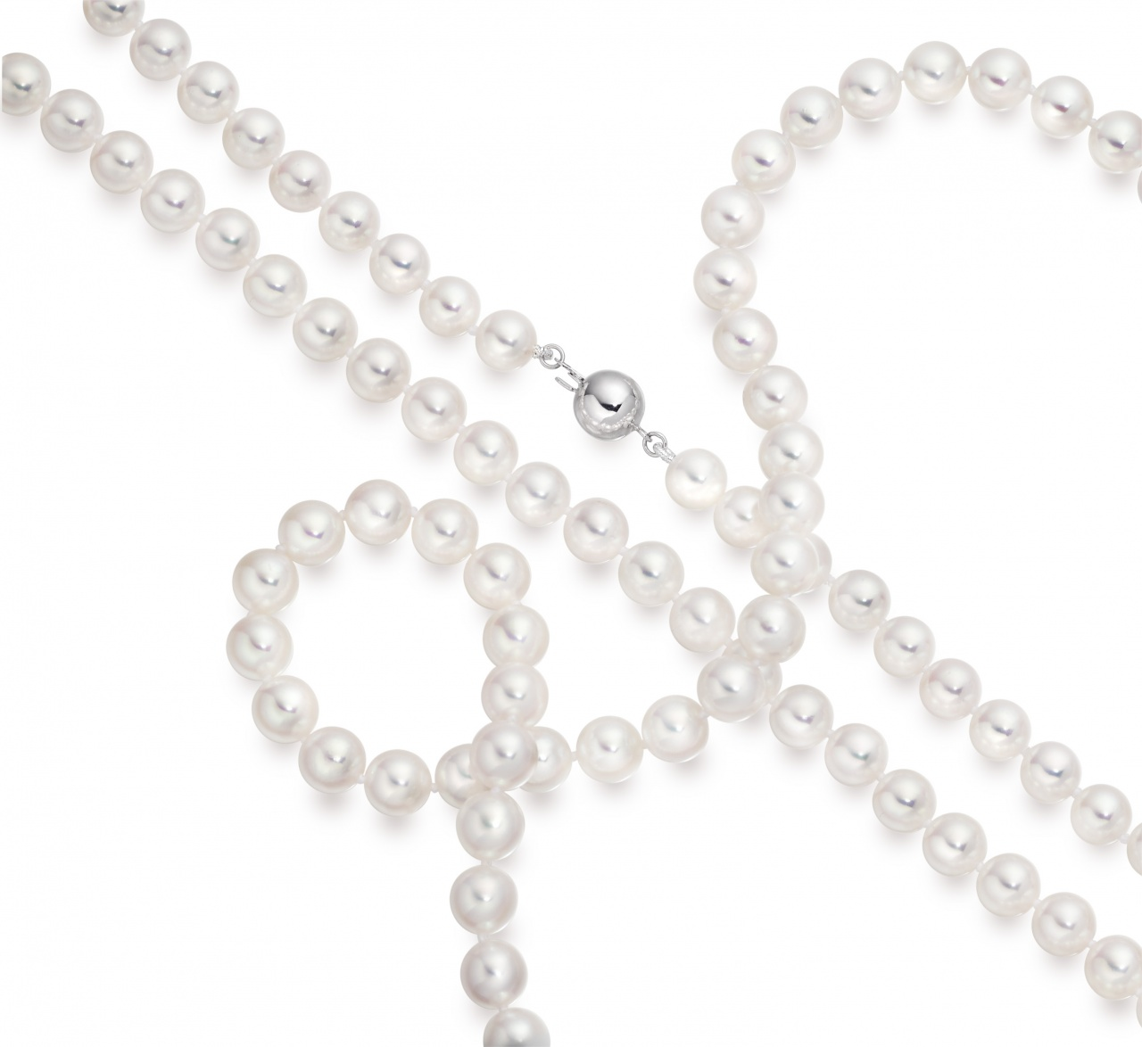 Matinee Length Akoya Pearl Necklace with 18ct Gold Clasp-1