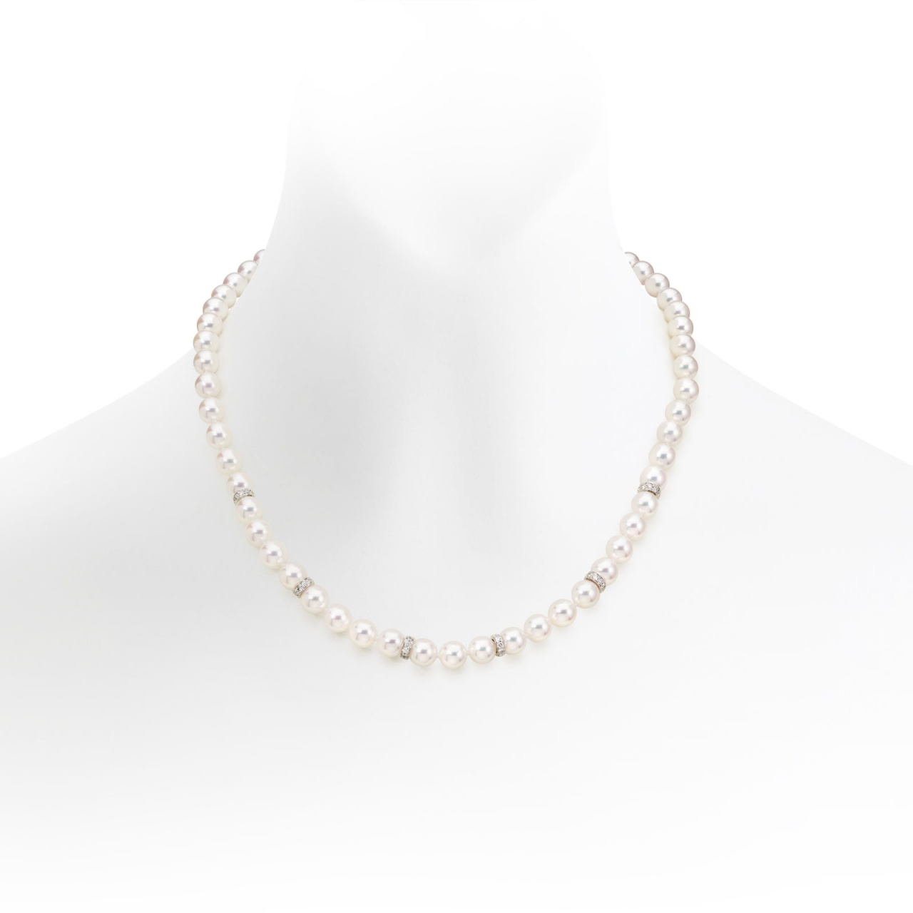 Aria Diamond and Pearl Necklace-ANWRWG0266-1