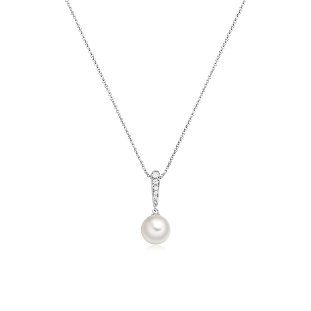 Mythologie Dewdrop Akoya Pearl Pendant in White Gold-APVARWG1232-1