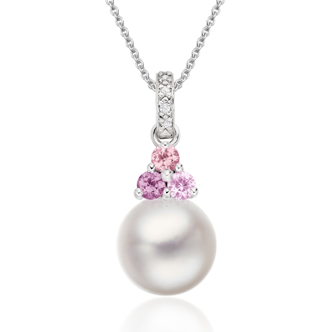 Astral Dawn Akoya Pearl Pendant in White Gold-APWRWG1327-1