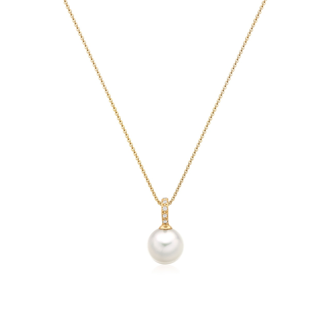 Mythologie Akoya Pearl and Diamond Pendant in Yellow Gold-APVARYG1078-1