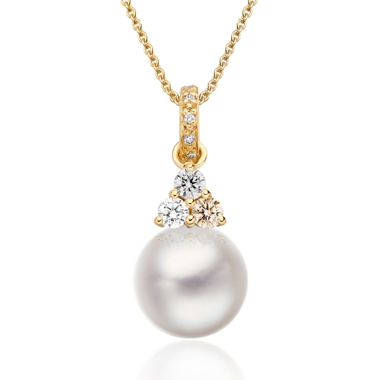 Astral Moon Akoya Pearl Pendant in Yellow Gold-APWRYG1332-1