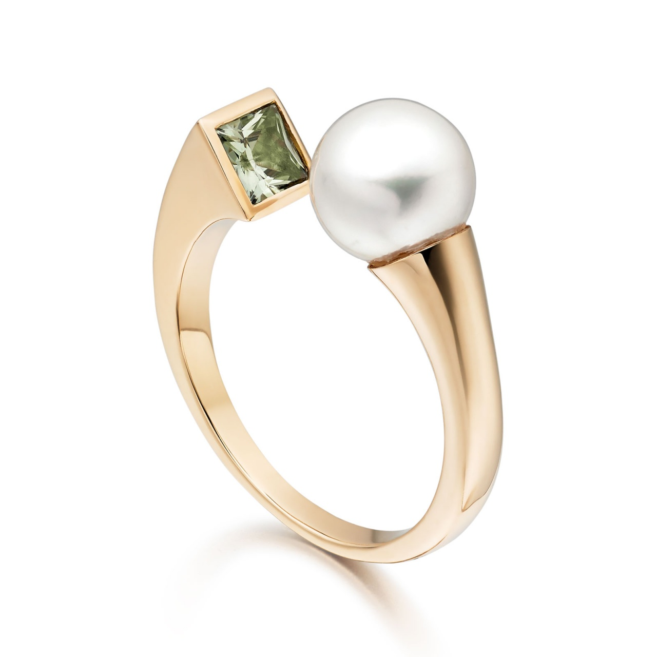 Lily Eclipse Akoya Pearl Ring in Rose Gold
