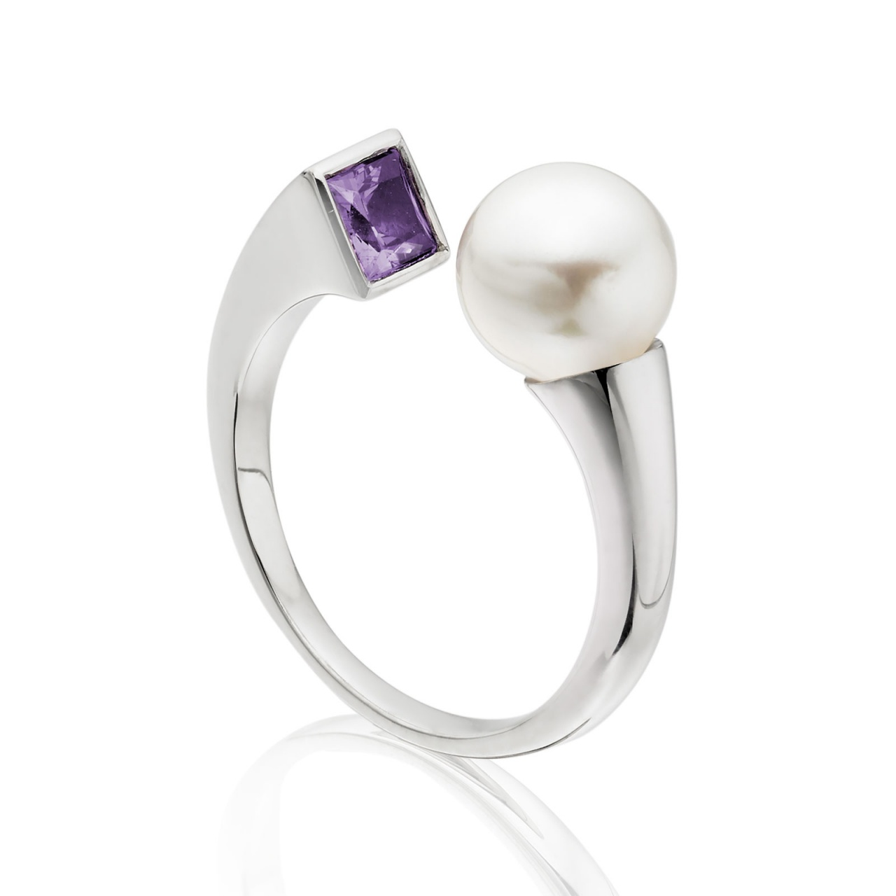 Lavender Eclipse Pearl Ring