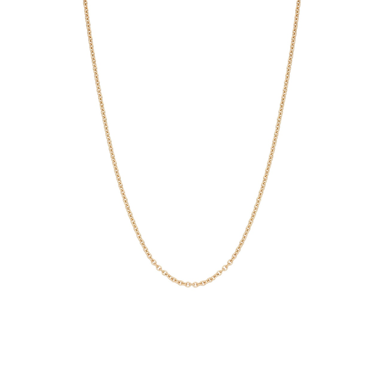 18 Carat Rose Gold Trace Chain 1mm Width