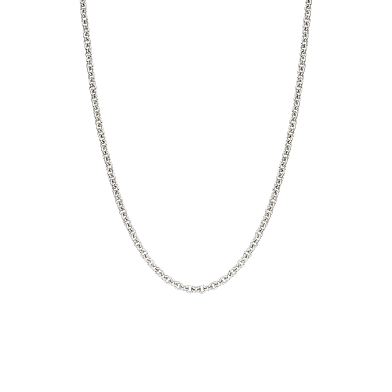 18 Carat White Gold Trace Chain 1.6mm Width-CHVARWG1080-1