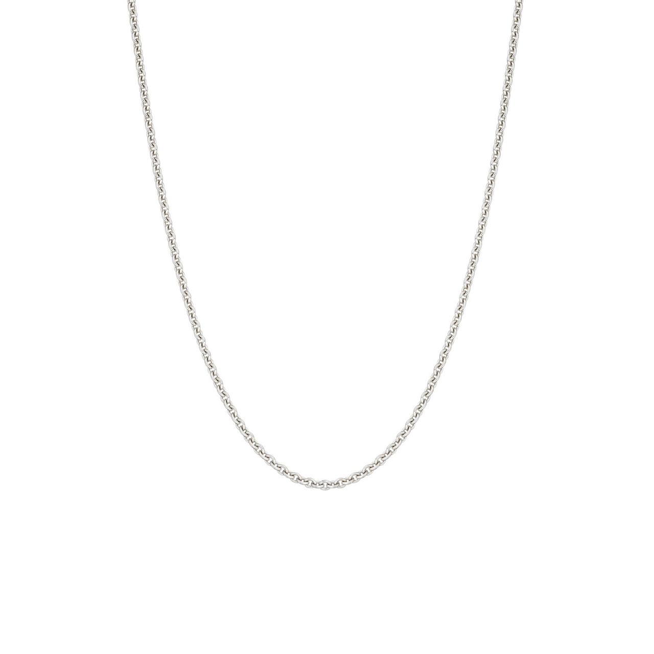 18 Carat White Gold Trace Chain 1mm Width-1