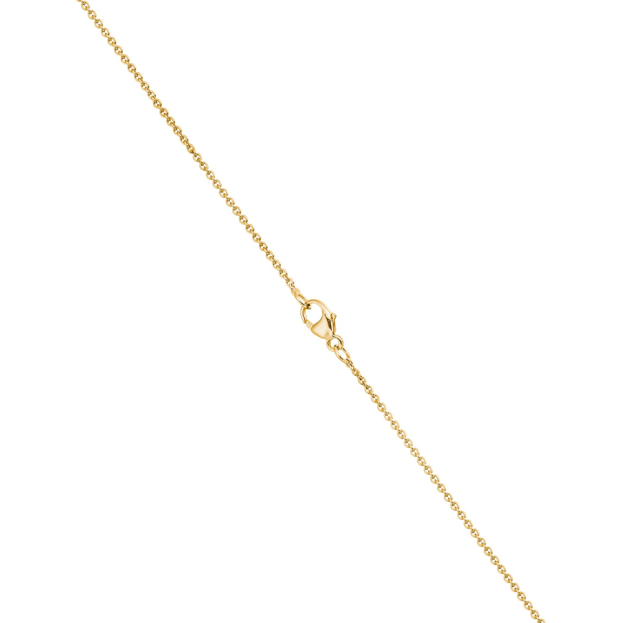 Classic Single Freshwater Pearl Necklace with Yellow Gold Chain-1
