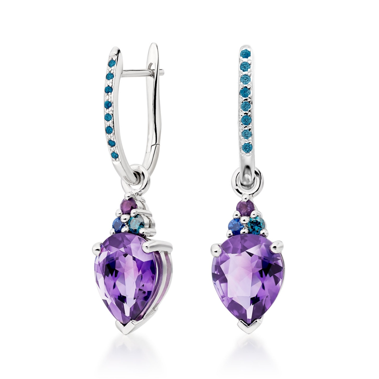 Blue Diamond Leverbacks with Astral Lagoon Drops-EAAMWG1125-1