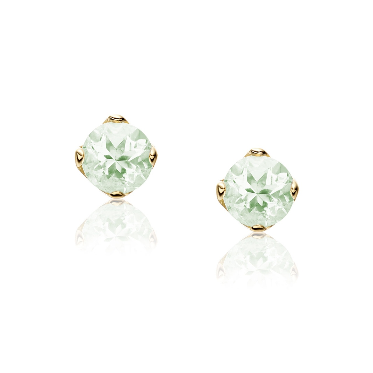 Lief Green Beryl Earrings in Yellow Gold with Tahitian Pearls-TEGRGB0484-1