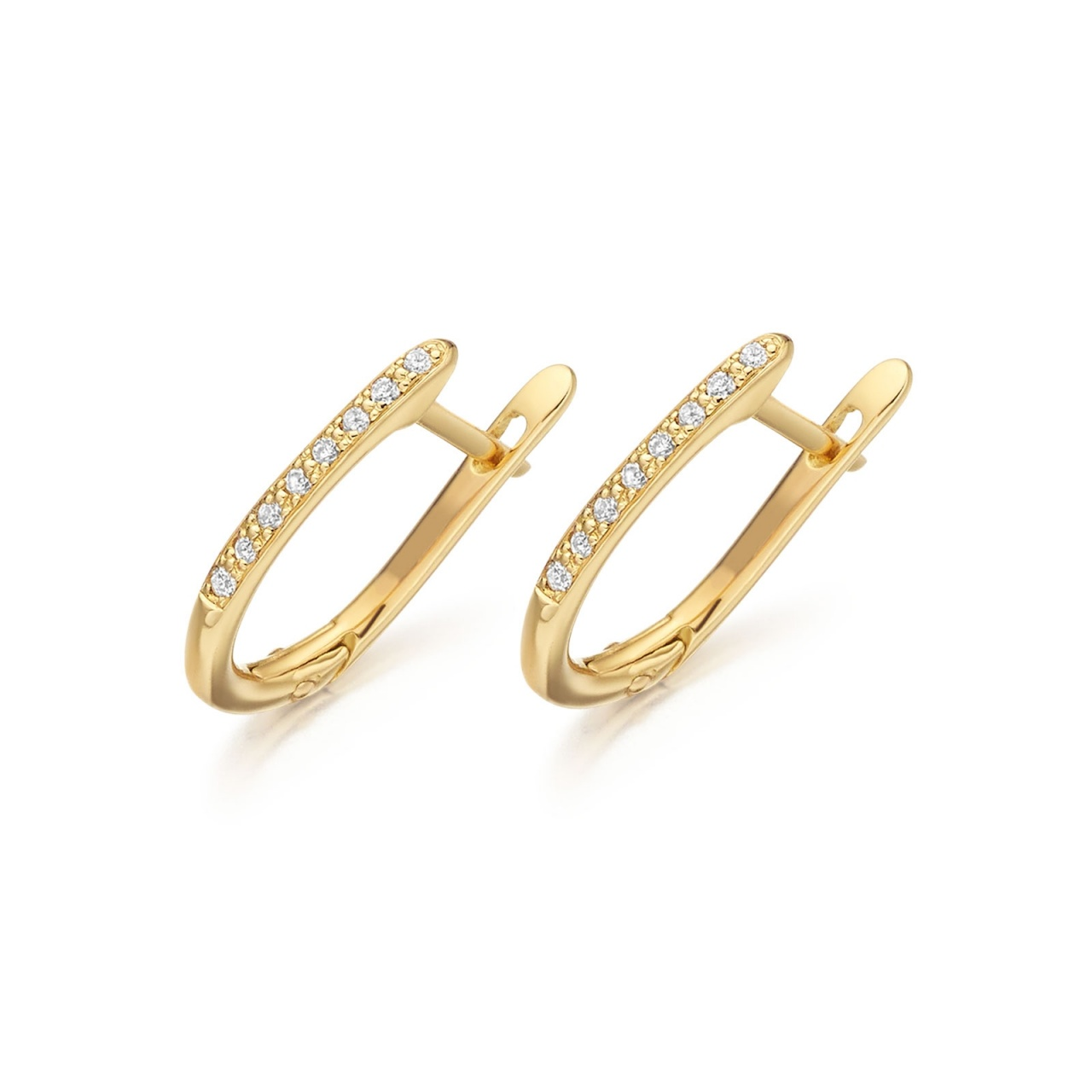 Yellow Gold Diamond Leverbacks with Akoya Pearls-AEWRYG0271-1