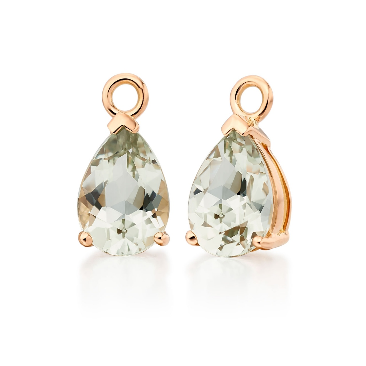 Mythologie Green Amethyst Leverback Drops in Rose Gold-GELPRG1042-1