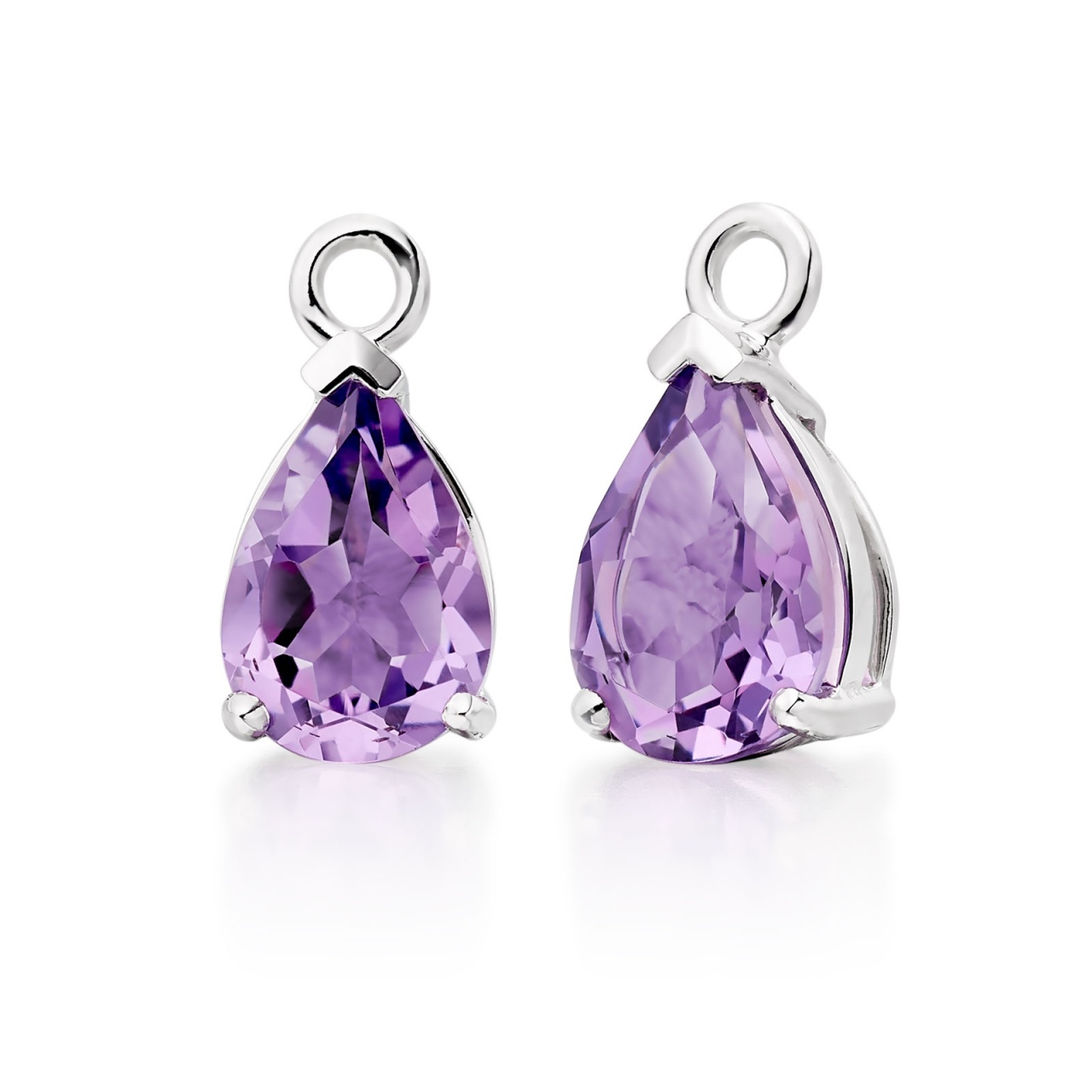 Mythologie Amethyst Leverback Drops in White Gold-GELPWG1034-1