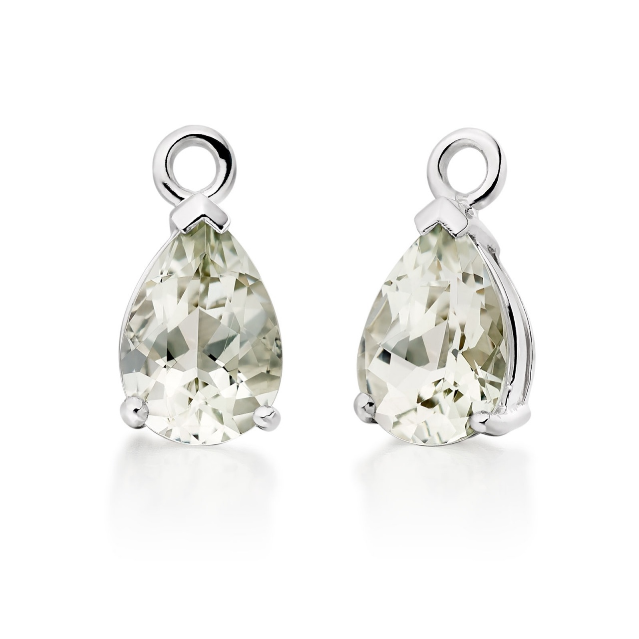Classic Leverbacks with Mythologie Green Amethyst Drops in White Gold-EAGAWG1107-1