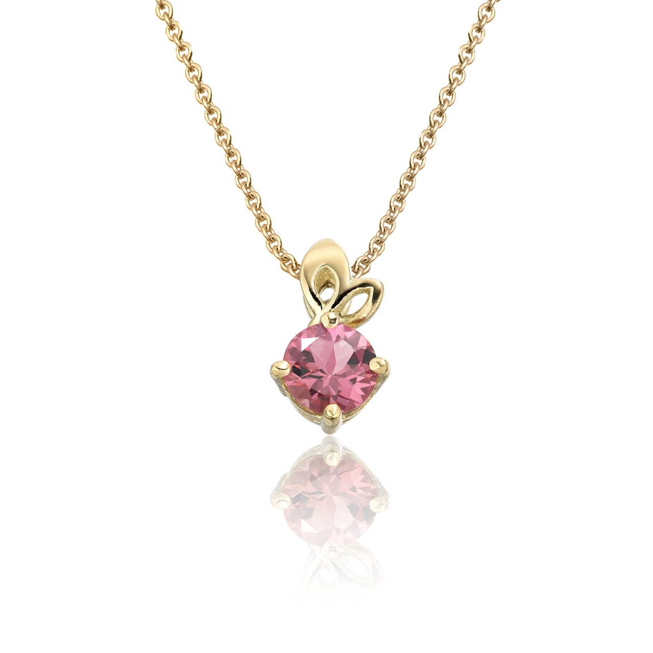 Lief Pink Tourmaline Pendant in Yellow Gold-PEVARYG1175-1