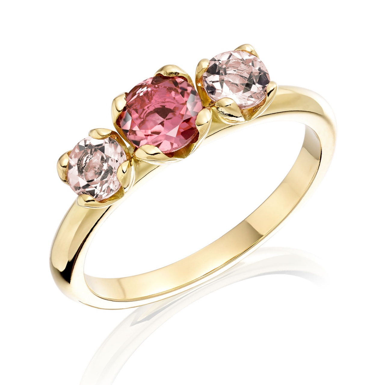 Lief Ring with Pink Tourmaline and Morganite