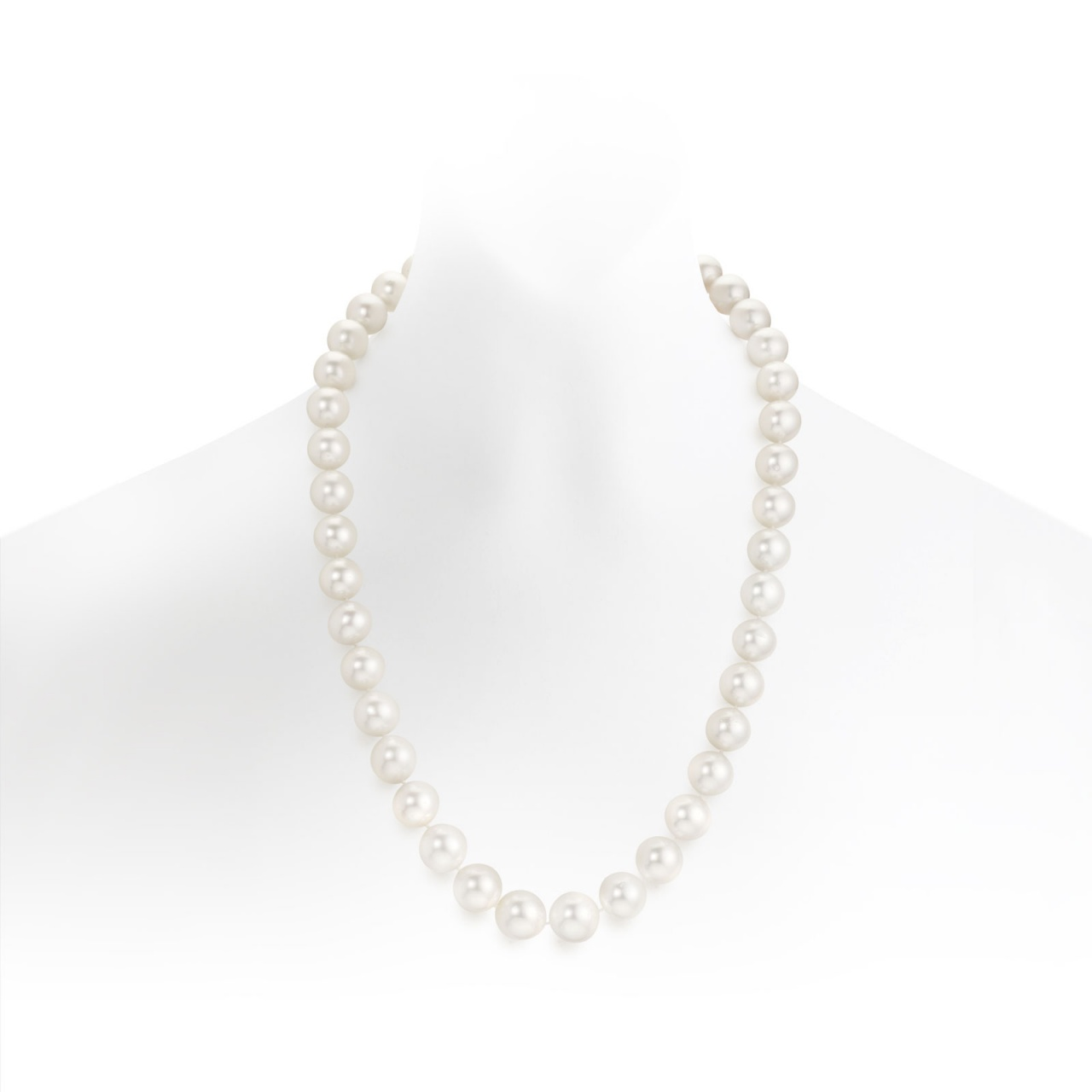 Long White South Sea Pearl Necklace with Pave Diamonds & 18ct Gold-SNWRWG0001-1