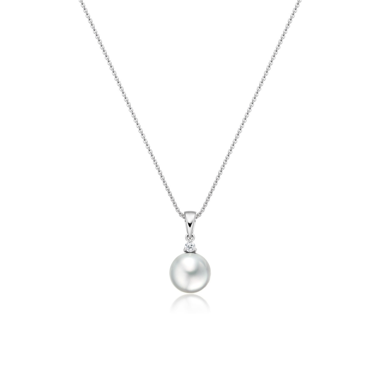 White South Sea Pearl and Diamond Pendant-SPWRWG0175-1