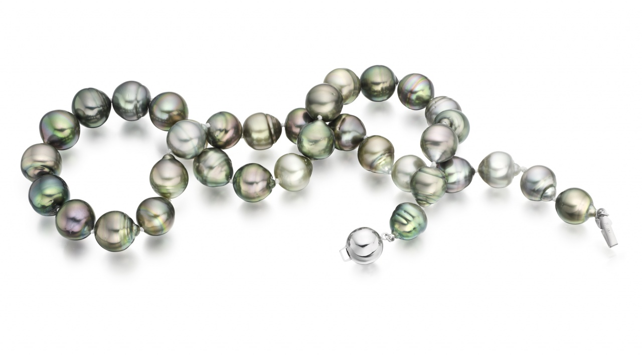 necklace green cultured shaped single products strand pearl lime lmgn irregularly freshwater pearls irregular
