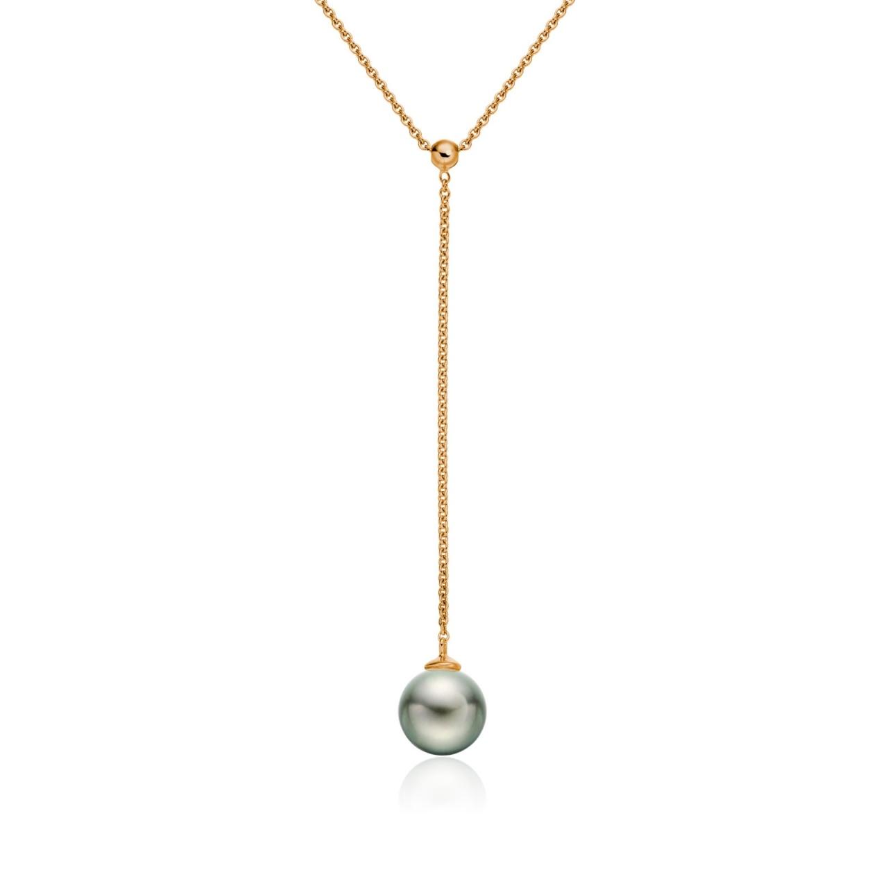 Tahitian Pearl Lariat in Rose Gold-TPBRRG1000-1
