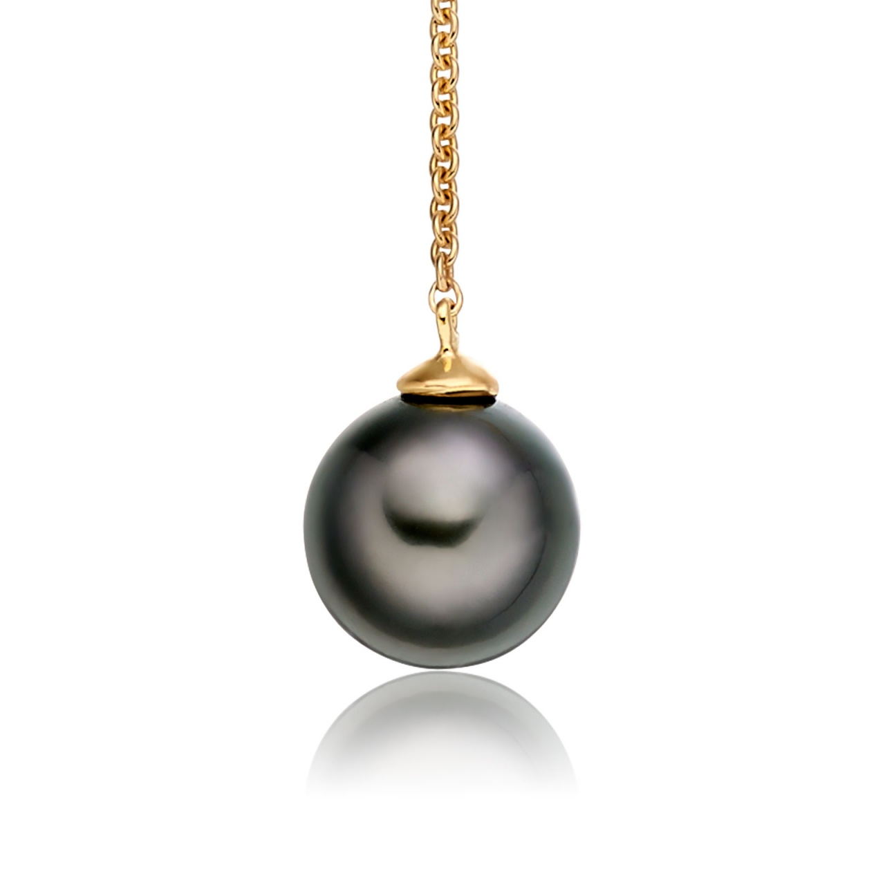 Tahitian Pearl Lariat in Yellow Gold-1