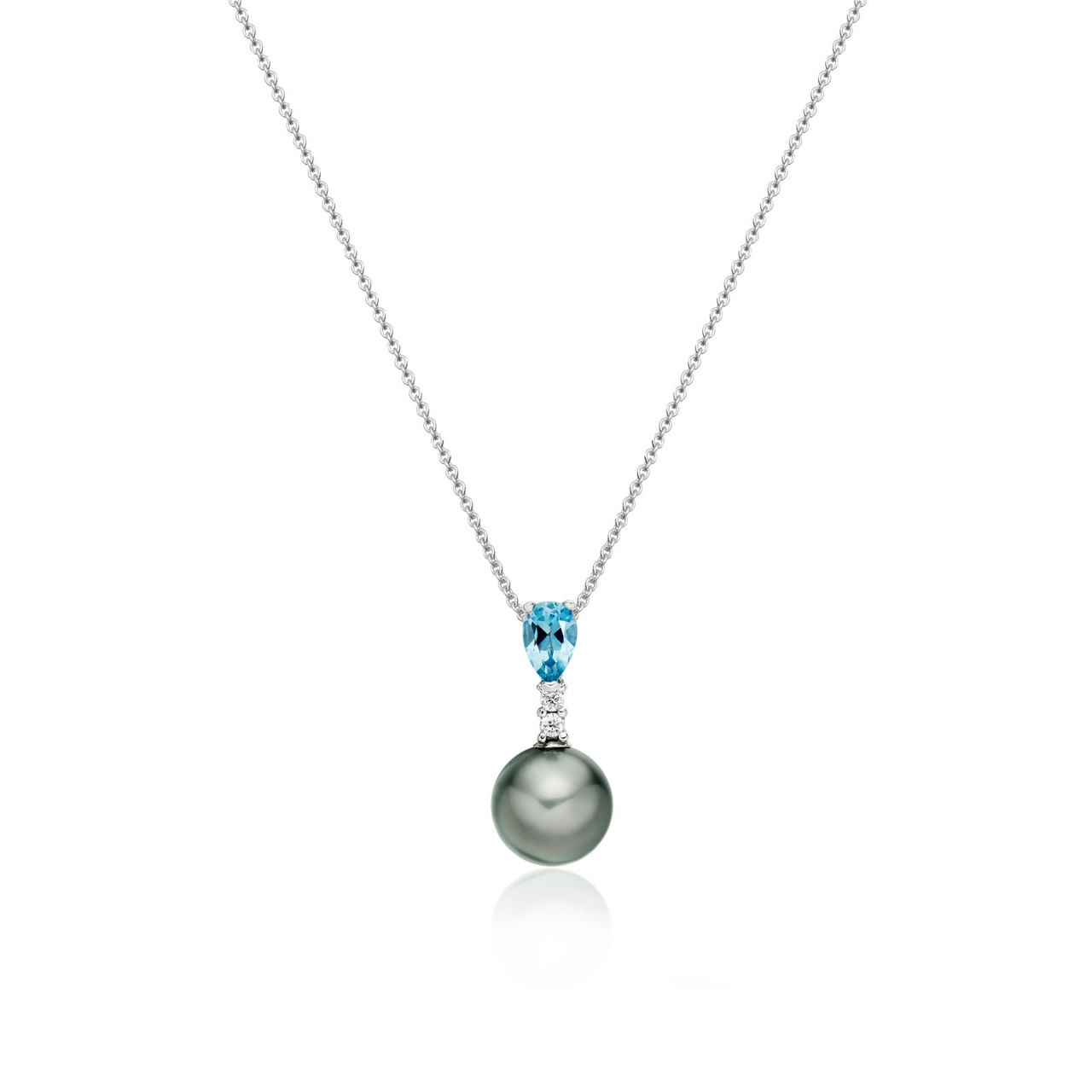 Classic Pear Drop Pendant in Aquamarine-TPVARWG0999-1