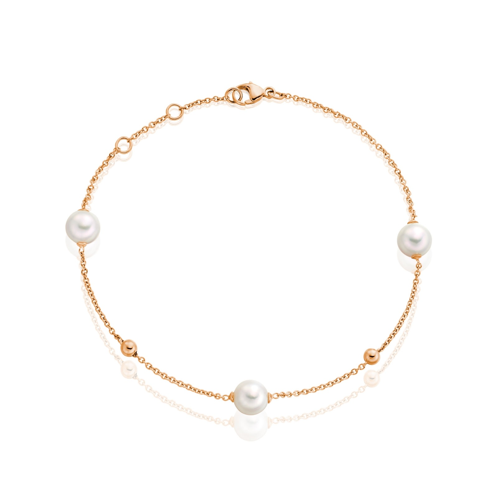 Akoya Pearl Constellation Bracelet in Rose Gold-ABWRRG1244-1