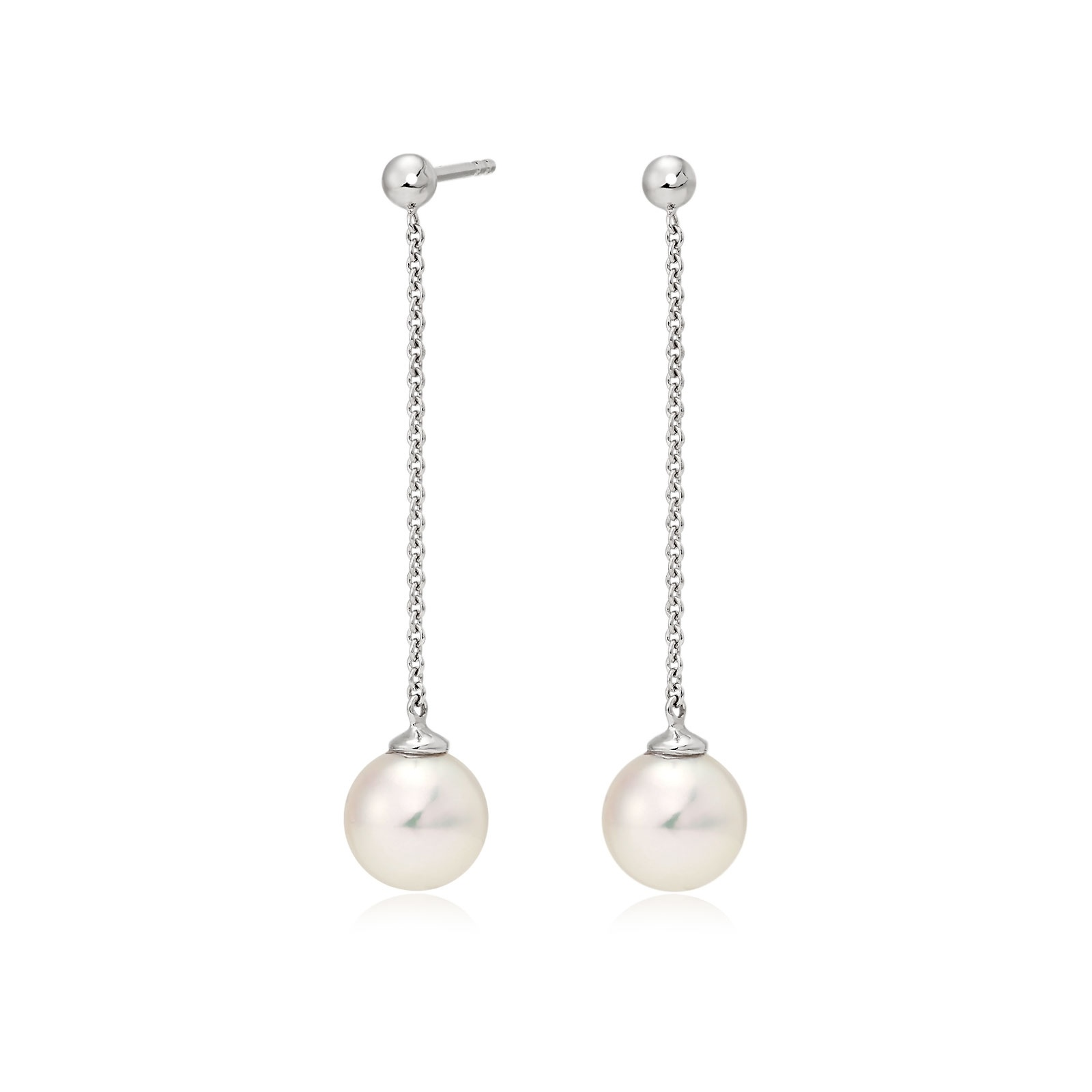 Akoya Pearl Constellation Earrings in White Gold-AEWRWG1221-1