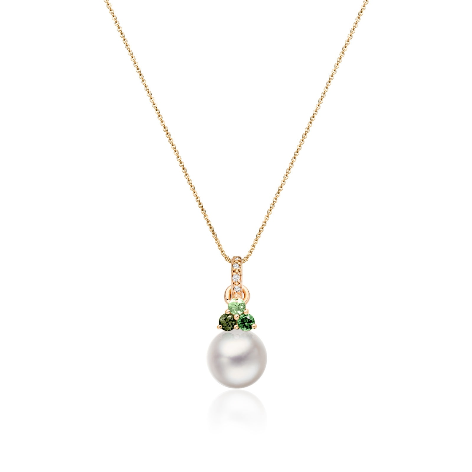 Astral Aurora Akoya Pearl Pendant in Rose Gold-APWRRG1334-1