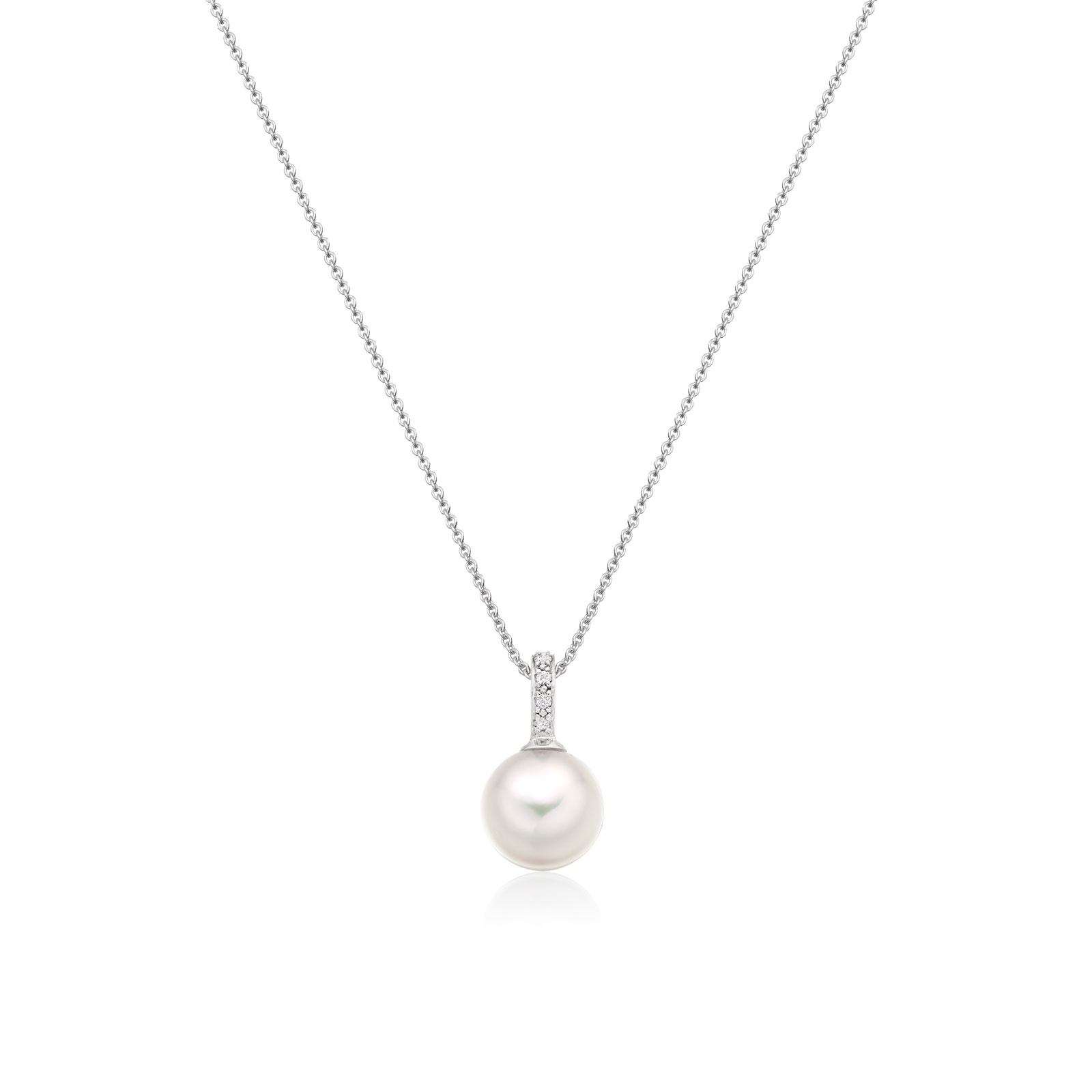 Mythologie Akoya Pearl and Diamond Pendant in White Gold-APVARWG1077-1