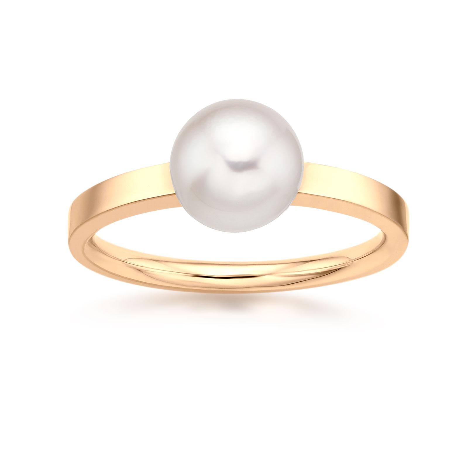 18 carat Yellow Gold Akoya Pearl Ring