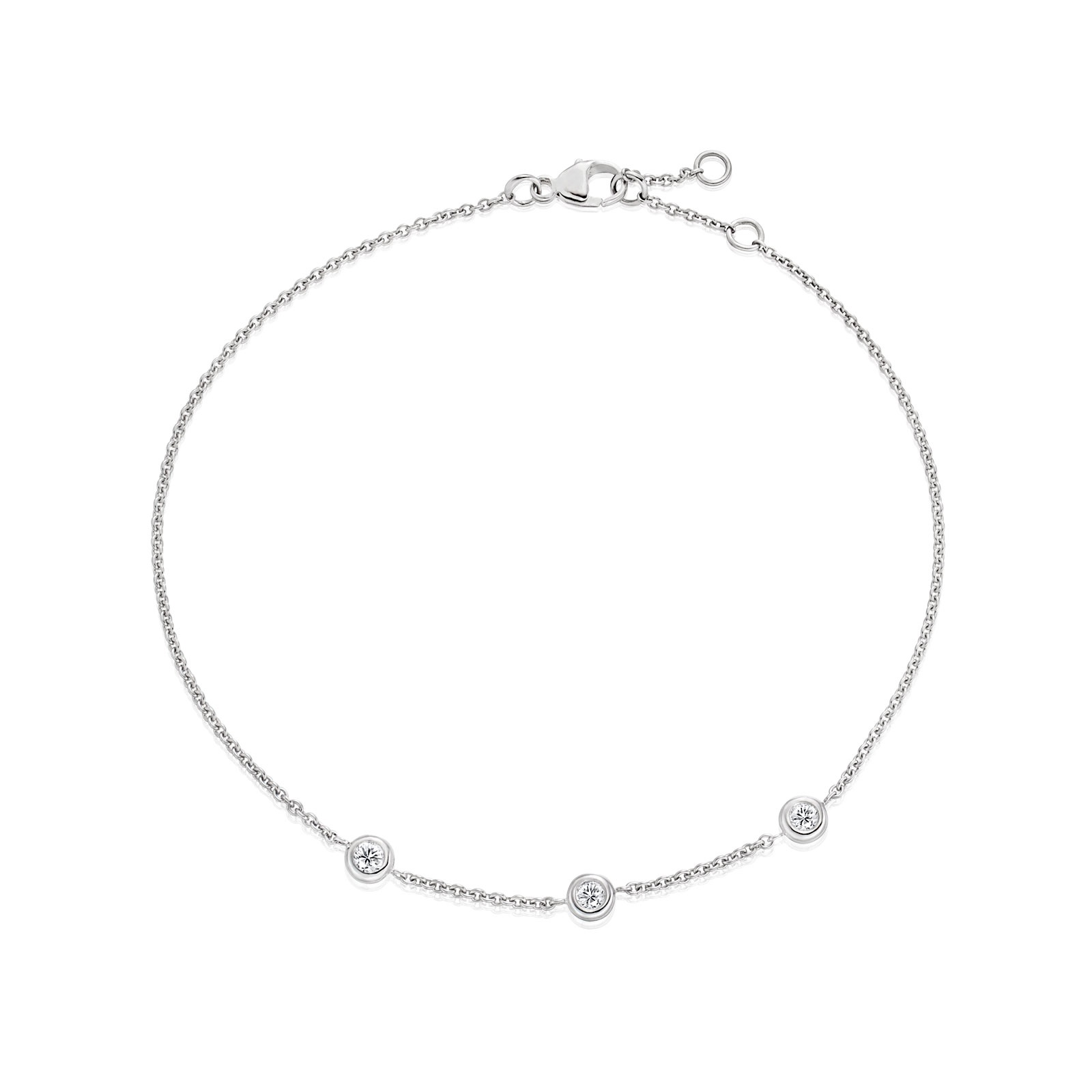 Classic 0.12ct Diamond Bracelet with White Gold-1