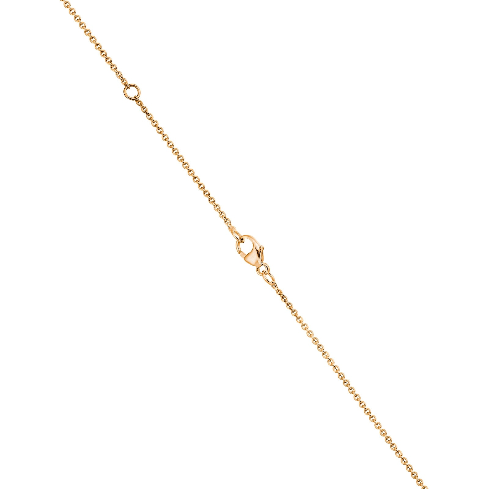 White Freshwater Drop Pearl and Diamond Pendant with Rose Gold Chain-1