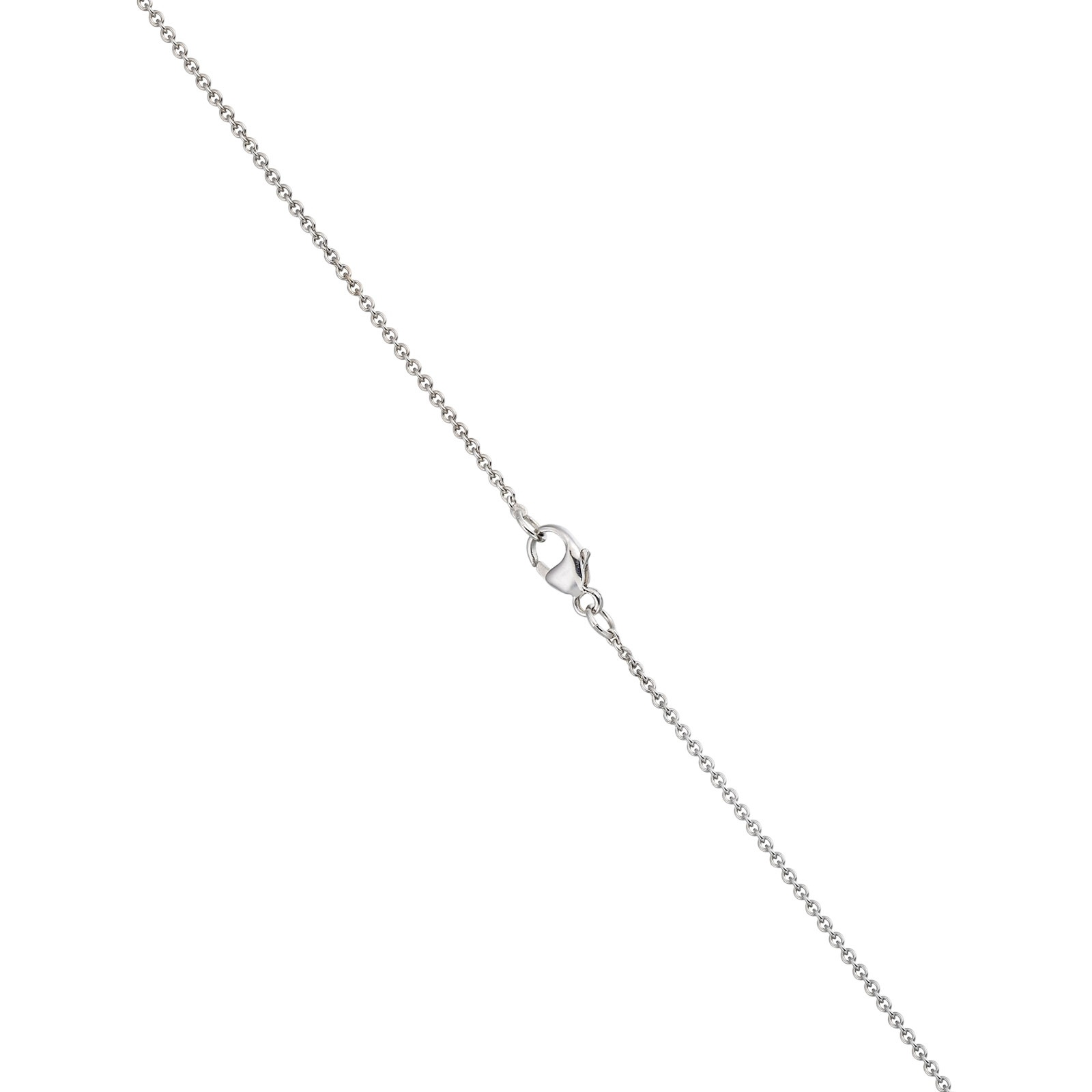 Classic Single Freshwater Pearl Necklace with White Gold Chain-1