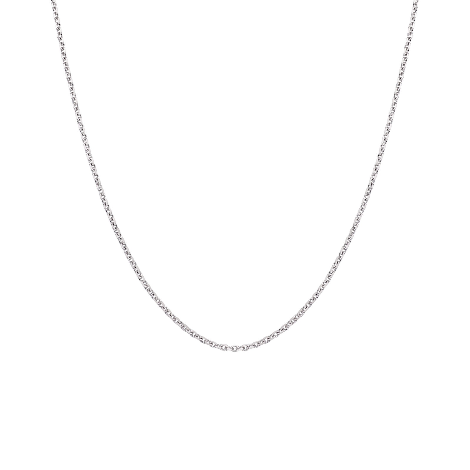 18 Carat White Gold Close Filed Trace Chain 1.5mm Width-1
