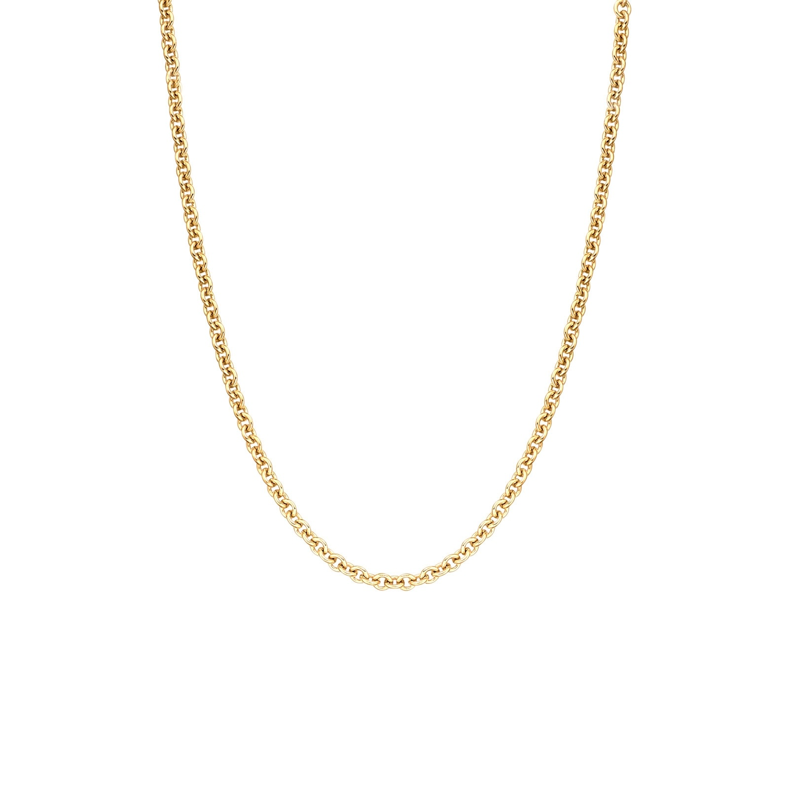18 Carat Yellow Gold Trace Chain 1.6mm Width-CHVARYG1257-1