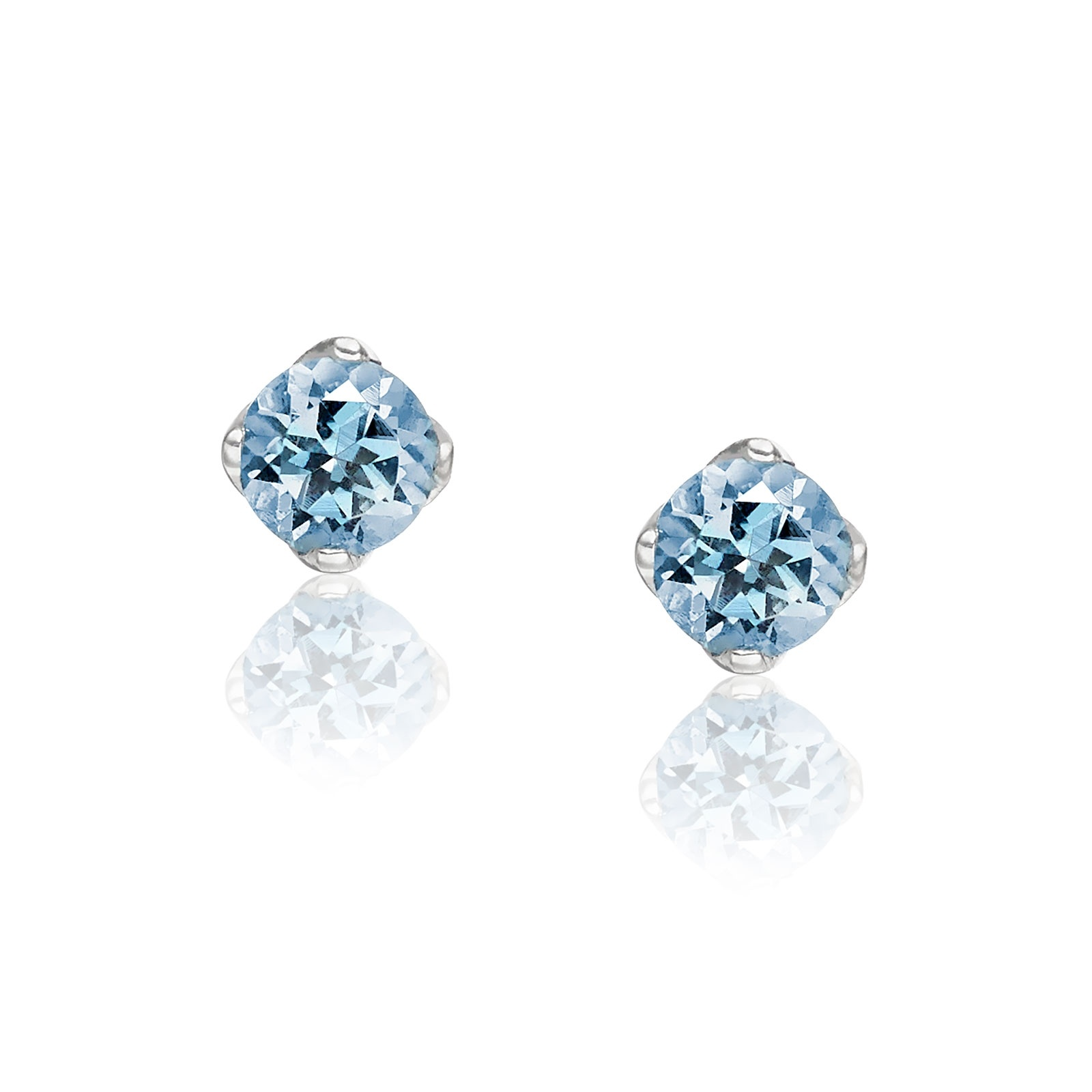 Lief Aquamarine Studs in White Gold-EAAQWG0413-1