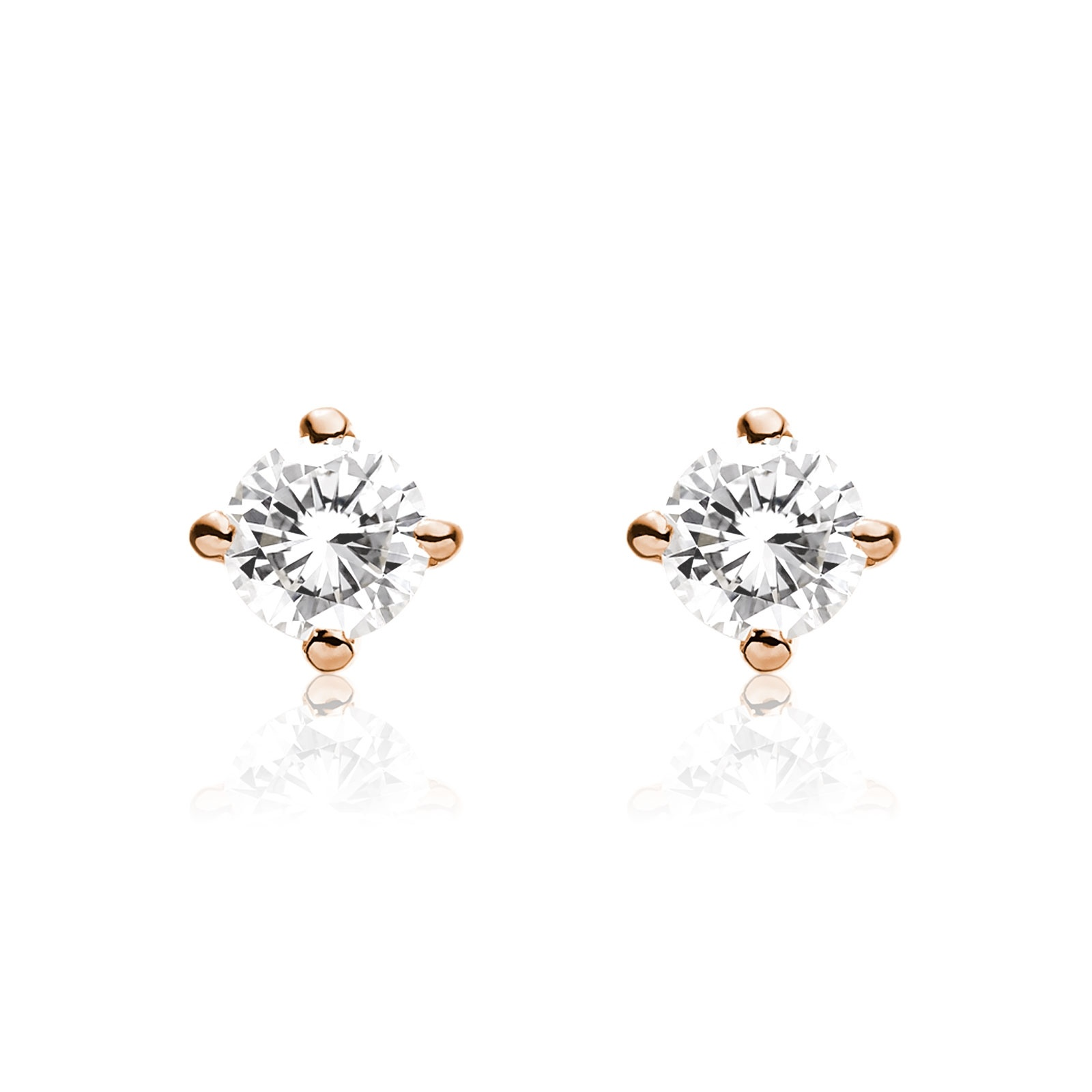 Diamond Studs in Rose Gold with Tahitian Pearls-TEGRRG1310-1