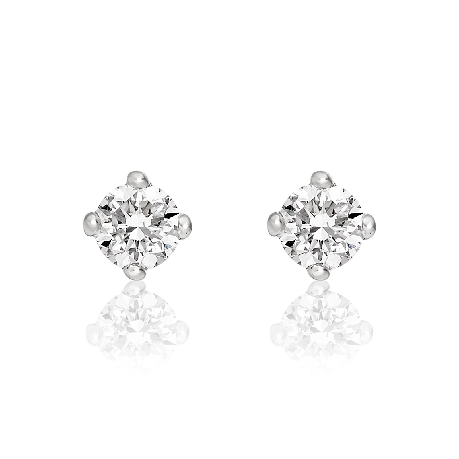 Diamond Studs in White Gold with White Freshwater Pearls-FEWDWG0489-1