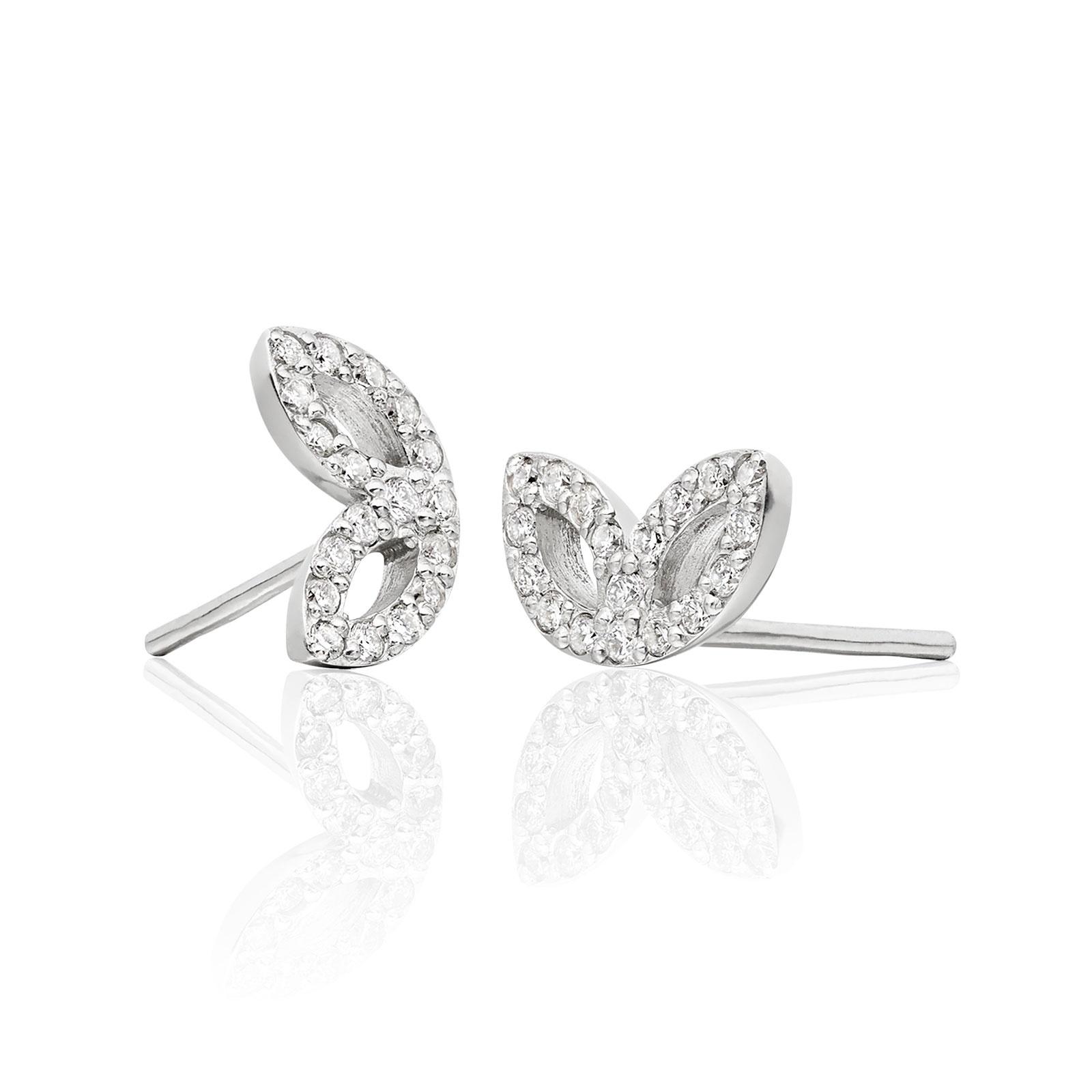 Enchanted Diamond Stud Earrings in White Gold-EADIWG0416-1