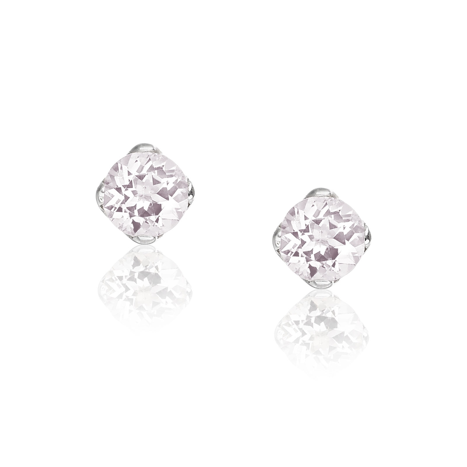 Lief Morganite Studs in White Gold-EAMOWG0415-1