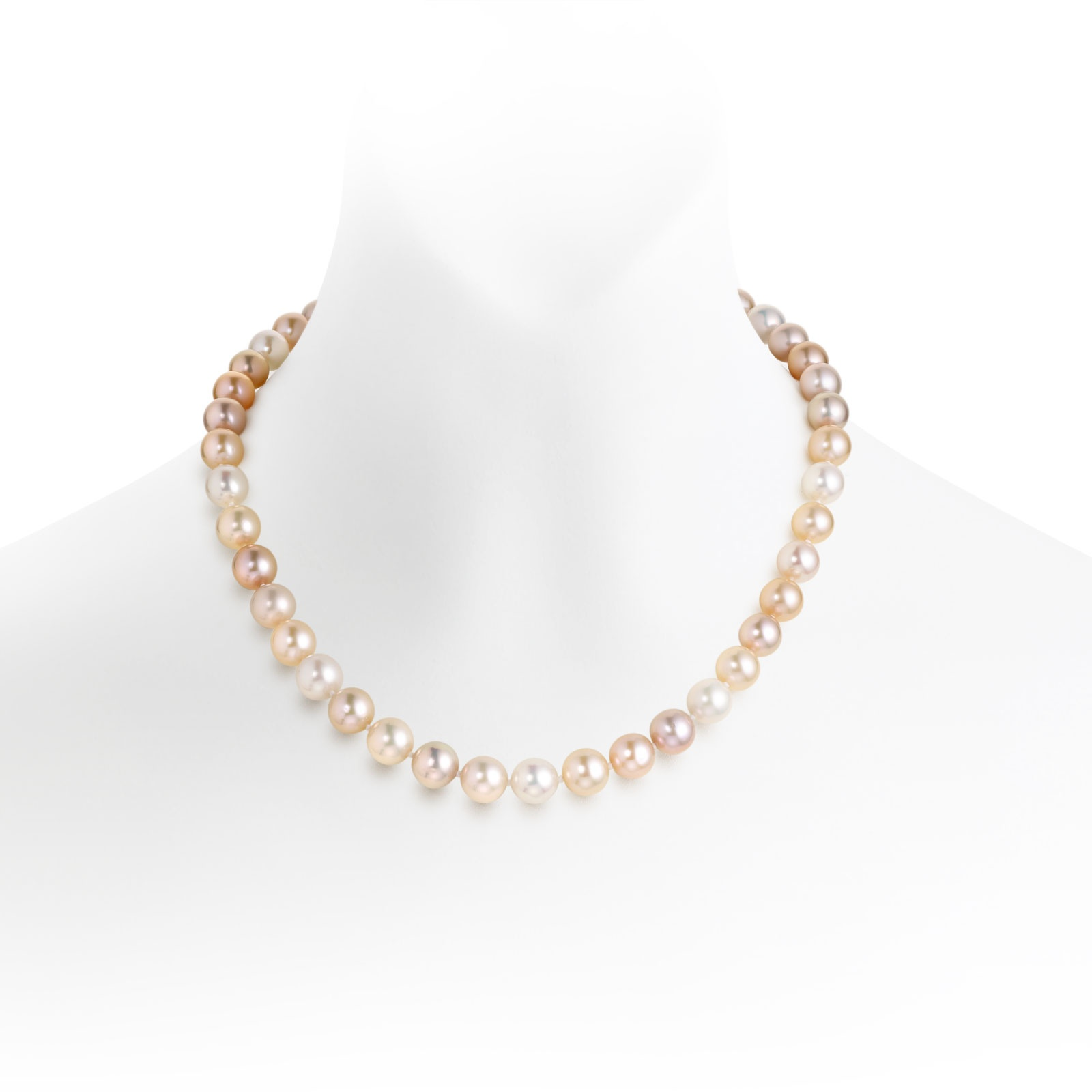 Luxury Multi-coloured Freshwater Pearl Necklace-FNMRYG0025-1