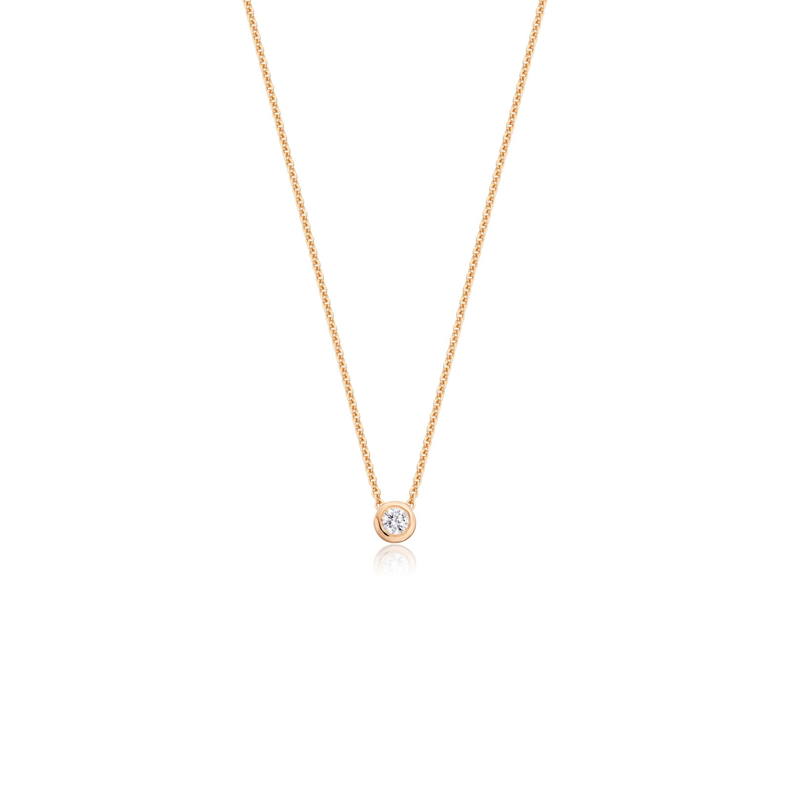 Classic 0.10ct Diamond Pendant with Rose Gold-1