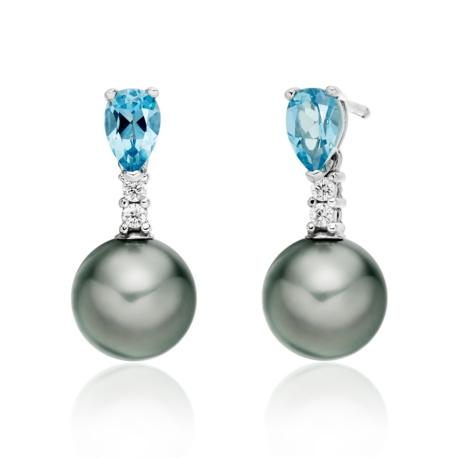 Classic Pear Drop Earrings in Aquamarine-TEGRWG0997-1