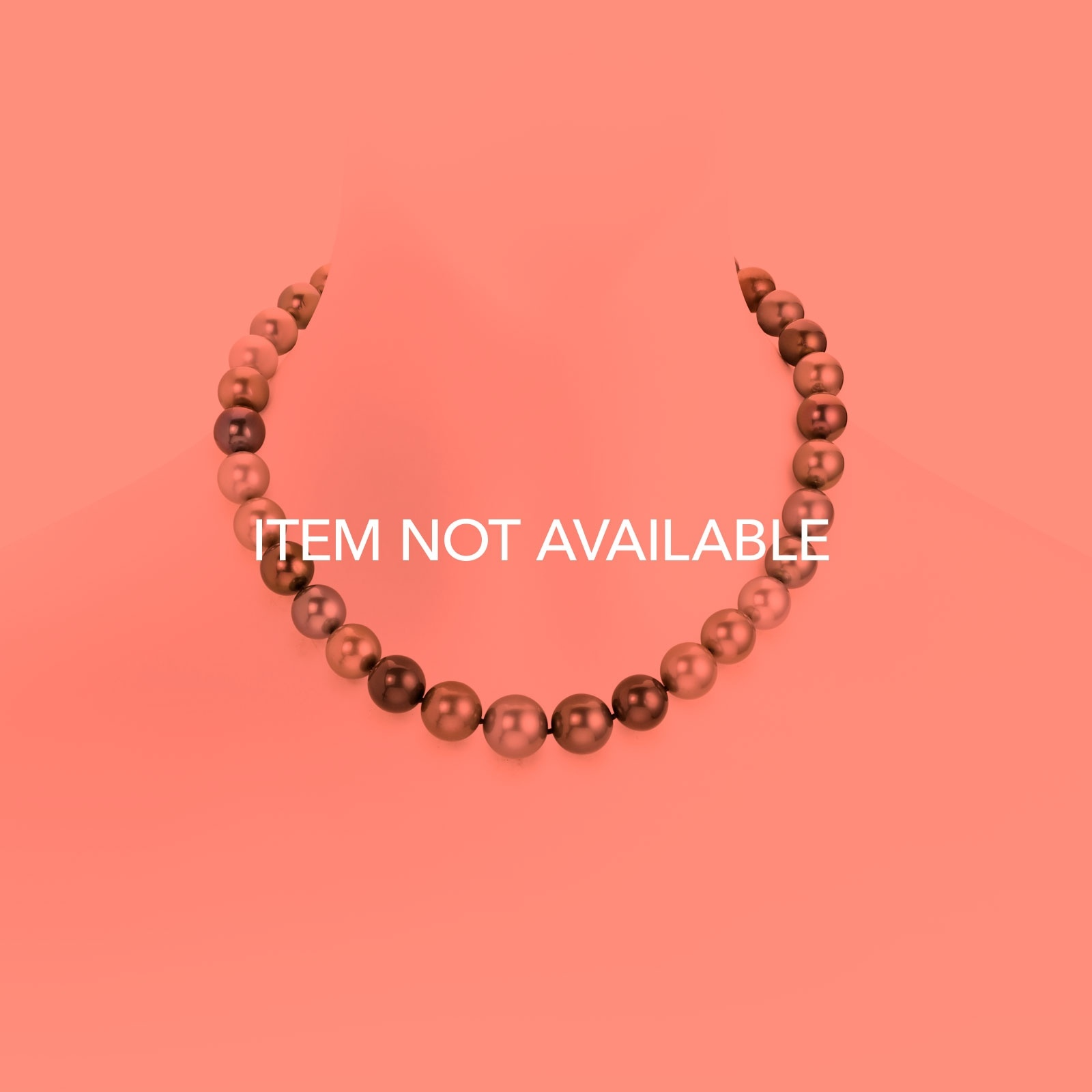 Multi-coloured Tahitian Pearl Choker Necklace with 18ct White Gold-TNMRWG0010-1