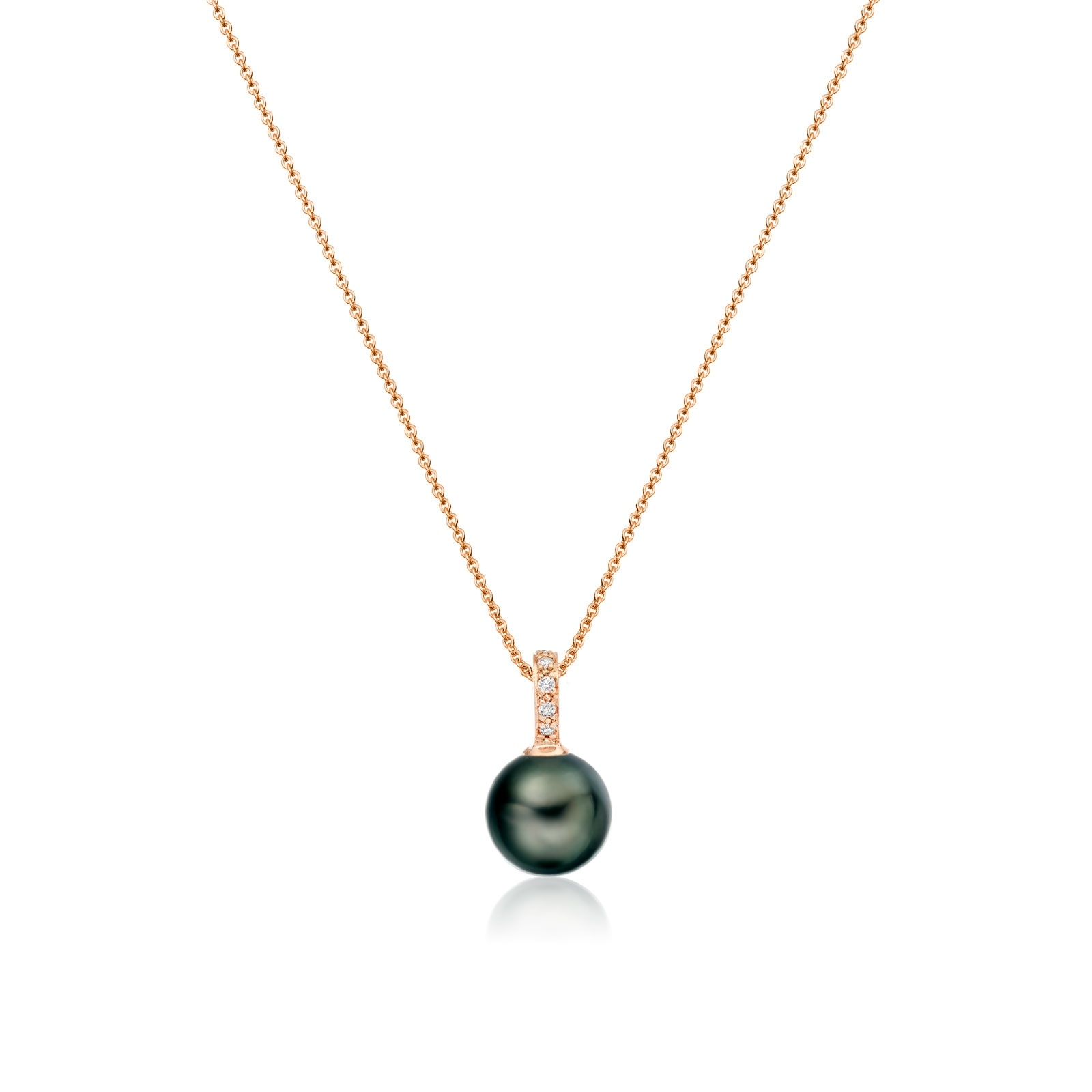 Mythologie Tahitian Pearl and Diamond Pendant in Rose Gold-TPVARRG1293-1